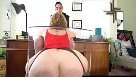 PAWG Boss Lady Sara Jay Face Fucks A Big Black Cock!