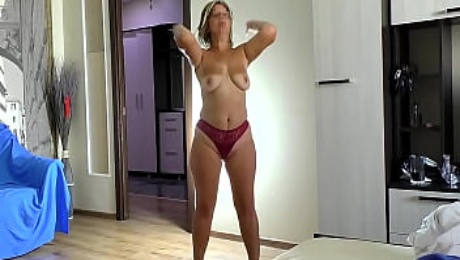 son fucks anal mature mom with big ass and blowjob